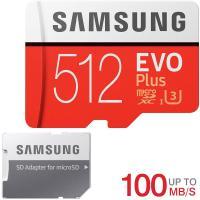 microSDXC 512GB Samsung サムスン EVO Plus EVO+ R:100MB/s W:90MB/s UHS-I U3 Class10 SD変換アダプター付 MB-MC512HA/CN海外パッケージ【1月18日順番発送】