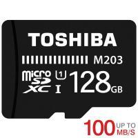 microSDカード マイクロSD microSDXC 128GB Toshiba 東芝 UHS-I U1 新発売100MB/S  THN-M203K1280C4海外パッケージ品