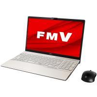 富士通 FMV LIFEBOOK AH53/ E2 シャンパンゴールド - 15.6型ノートパソコン [Core i7 /  メモリ 8GB /  SSD 512GB /  DVDドライブ]返品種別A