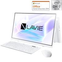 NEC 23.8型デスクトップパソコン LAVIE A2365/BAW - ファインホワイト (Core i7/8GB/512GB SSD) Office Home & Business 2019 PC-A2365BAW 返品種別A