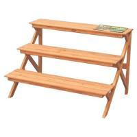 アイリスオーヤマ 木製フラワースタンド (ブラウン)(幅90×奥行63×高さ58.5cm) GD-903 返品種別B