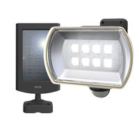 ムサシ ソーラー充電式LEDセンサーライト(8W ワイド) RITEX S-80L 返品種別A