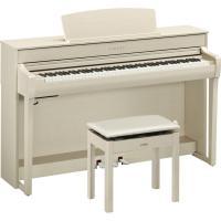 ヤマハ 電子ピアノ(ホワイトアッシュ調)(高低自在椅子&ヘッドホン&ソングブック付き) YAMAHA Clavinova(クラビノーバ) CLP-745WA 返品種別A