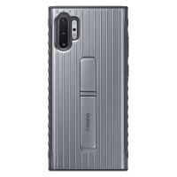 サムスン Galaxy Note10+(SC-01M/ SCV45)用 純正 PROTECTIVE STANDING COVER(シルバー) SAMSUNG EF-RN975CSEGJP 返品種別A