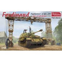 アミュージングホビー 1/ 35 ドイツ重駆逐戦車 フェルディナント(フルインテリア)&16tストラボクレーン(AMH35A030)プラモデル 返品種別B