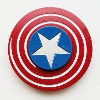 ハンドスピナー/フィジェットトイ/指スピナー/キャプテンアメリカ  かっこいいキャプテンアメリカのデ...