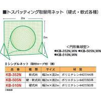 体育器具・体育用品 カネヤ 野球 硬式向 取り替えネットトス90 KB-510N <2019CON>