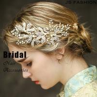 ◆結婚式・披露宴・卒業式・パーティーヘアアクセサリーです。 ◆ビーズ&ストーンでキラキラでパ...