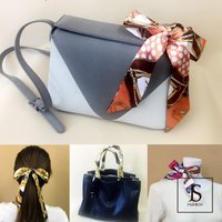 ◆選べる柄・全29柄・細スカーフです。 ◆バッグや小物、ヘアなどに付けてアレンジが可能、腕や首にも巻...