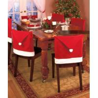 2枚組 クリスマス用 椅子シートカバー サンタデコレーション クリスマスパーティー