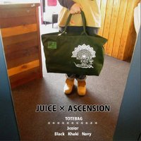 JUICE(ジュース) × ASCENSION(アセンション)tote bag 【JUICE 13th anniversary】  as-401