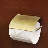 真鍮 トイレットペーパーホルダー おしゃれ カバー レトロ アンティーク調 ラスティクデコ トイレットペーパーホルダー ブラス