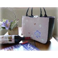 高級絞りの和柄バッグ(ピンク地に桜)