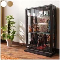 ◆完成品・送料無料の木製コレクションケース(ガラス扉 )。LED取り付けも可能となっていて最高の雰囲...