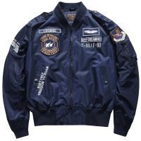 ミリタリージャケット メンズ MA-1 刺繍 立ち襟 英文字 個性 カジュアル オシャレ MA1