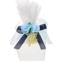 ■納期目安:クイックデリバリー商品 在庫切れの場合は別途ご連絡いたします。 真っ白な不織布にブルーの...