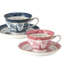●内容:コーヒー碗(240cc)、コーヒー皿×各2(ブルー、ピンク)●素材:  硬質陶器●サイズ(m...