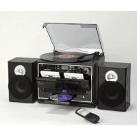 ダブルカセット搭載でレコード、ラジオ、CD も聴けるマルチプレーヤーです レコード、ラジオ、CD、カ...