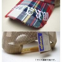 Wrangler【ラングラー】ロゴワッペンメッシュキュップ チェック柄/刺繍/プリント