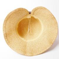麦わら帽子 折りたたみ 帽子 つば広 リボン レディース