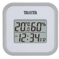 【送料無料メール便専用】 タニタ デジタル温湿度計 グレー TT-558WH