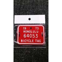 ハワイ・バイシクルタグです。   自転車にピッタリのサイズでカワイイサイズです。  工具箱に貼り付け...