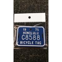 ハワイ・バイシクルタグです。  自転車にピッタリのサイズでカワイイサイズです。  工具箱に貼り付けて...