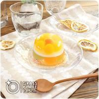 キラキラ ガラスの小皿 13.5cm アウトレット込 日本製 洋食器 ガラス食器 ガラス製 お皿 プレート 取り皿 副菜皿 醤油皿 デザート皿 カフェ風 北欧風 おしゃれ