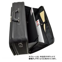 アタッシュケース ソフト A3ファイル 軽量 ビジネスバッグ フライトケース パイロットケース メンズ 48cm #21217