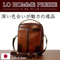 LO HOMME PRESSE アルカイック 牛革 縦型2WAYショルダーバッグ 71864 日本製  メンズ レザー