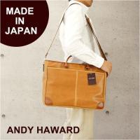 ビジネスバッグ メンズ/ANDY HAWARD(アンディ ハワード)2way 合皮ビジネスバッグ/26521/ブリーフケース ブラウン メンズ レディース ショルダー 合皮
