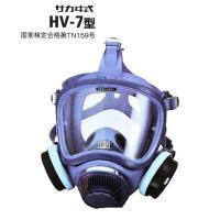 興研の、HV-7型防毒マスクは、軽量小型吸収缶使用の全面形タイプ、高気密広視界のハイスコープV型面体...