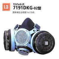 興研の、7191DKG型防毒マスクは、マスクを装着したまま会話や指示が行える伝声器付き。防じんマスク...