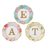 紙皿 ペーパープレート E.A.T 3種 [Talking Tables]パーティー、お花見、ピクニック