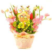 初節句 お祝い おひなさま 桃の花  菜の花 アレンジメント ひな祭り 生花