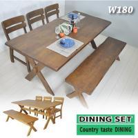 ■サイズ  ・テーブル:幅1800mmmm×奥行900mm×高さ700mm ・チェア:幅430mm×...