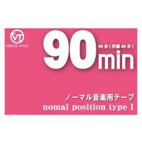 カセットテープ90分(片面45分)インデックスカード付