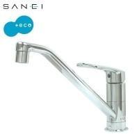 キッチン用のシングルワンホール混合栓です。水ハネが少ない泡沫吐水タイプ。エコ位置クリックでお湯が出な...