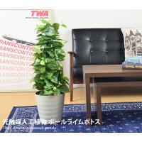 観葉植物 光触媒 造花 ポールライムポトス グリーン タバコ 植物