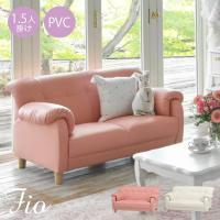 大人かわいいインテリアや姫系家具に合わせやすいコンパクトソファー。 ボリューム感のある肘掛けと全体的...