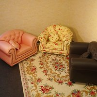 クラシカルなヨーロッパのソファをそっくり小さなプリンセス用に作りました。 スタッグが自慢です。優しい...