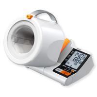 (1)▲マーク点灯で「早朝高血圧」を確認 (2)腕を通すだけで正しい測定姿勢をつくる「可動式腕帯」 ...