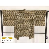 羽織 着物 女性用 ベージュ 幾何学 正絹 シルク 81cm Sサイズ Bランク 良品  中古