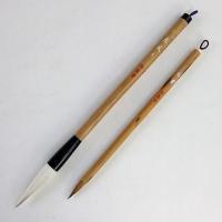 魁盛堂筆の評判の良い太筆と小筆をセットにしました。 2本組◎太筆『恵風』(大)【 サイズ 】穂の内径...