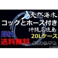 コックとホース(1.5m)付き沖縄石垣島の天然海水20リットル汲みたて直送(送料無料)【美ら海熱帯魚】|kaisui-okinawa