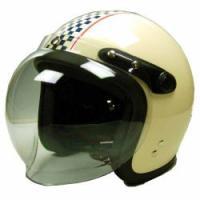 【商品名】バブルシールド付スモールジェットヘルメット フリー [SJ-68B] 【カラー】アイボリー...