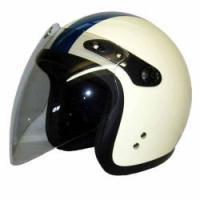 【商品名】シールド付スモールジェットヘルメット フリー [SJ-67S] 【カラー】アイボリー/ネイ...