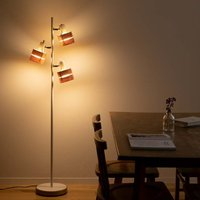 シェードは自在に角度調節ができるので、 床から天井まで照らしたい箇所を明るくしてくれます。 点灯切り...