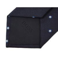 ヒューゴ・ボス ネクタイ HUGO BOSS ボス メンズ ジャガード ドット シルク100% ネイビー/グレー 28013 アウトレット