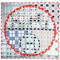 エルメス スカーフ HERMES ソルド カレ 90CMS ツイル シルク100% EXLIBRIS A CARREAUX ホワイト/ルージュ/グレー 29226